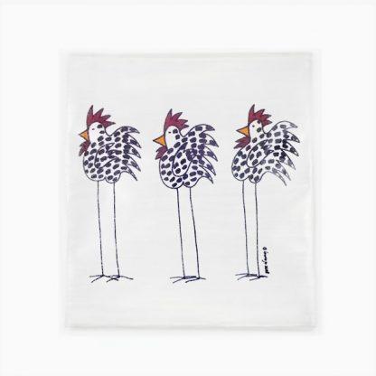 Flour Sack Towel - 3 Chickens