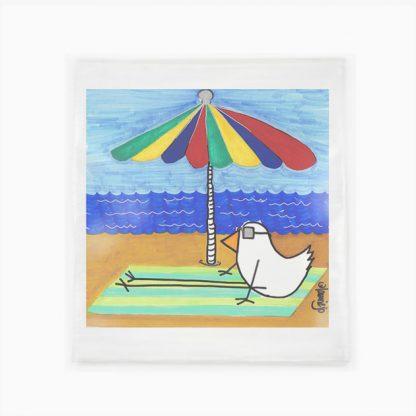 Flour Sack Towel - Bird On The Beach