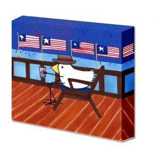Bird On Flag Deck