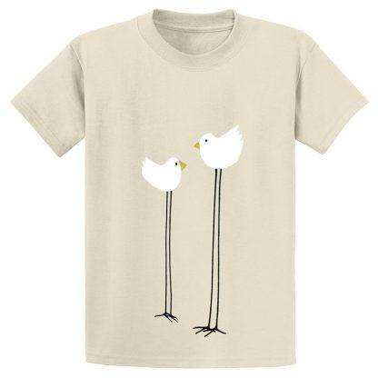 UniSex-SS-Tee-natural-long-legged-birds