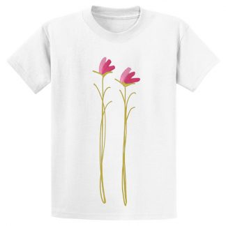 UniSex-SS-Tee-white-pink-floral