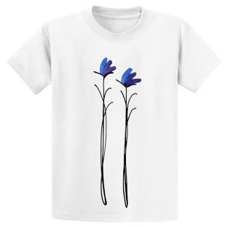 UniSex-SS-Tee-white-purple-floral