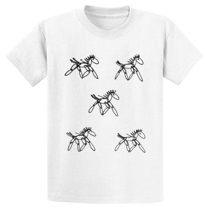 UniSex-SS-Tee-white-running-horses