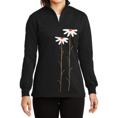 14-Zip-Sweatshirt-black-daisiesW
