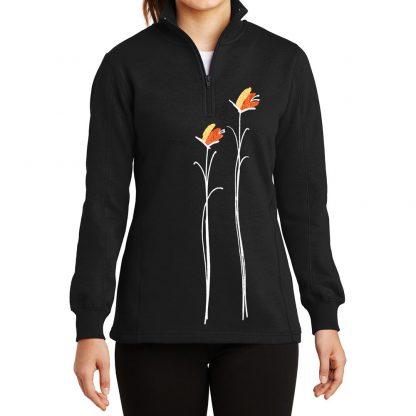 14-Zip-Sweatshirt-black-gold-floral