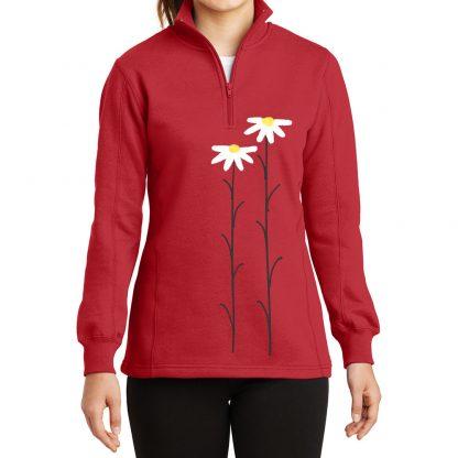 14-Zip-Sweatshirt-red-daisiesW