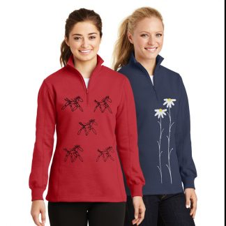 Ladies 1/4 Zip Sweatshirt