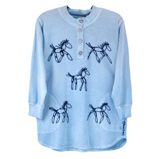 LFH-Fleece-Henley-blue-running-horses