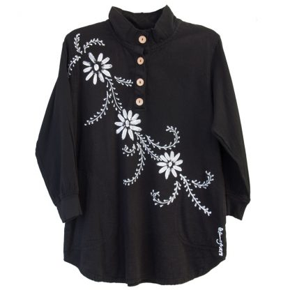 French-Terry-Henley-black-mina-flowersWHT