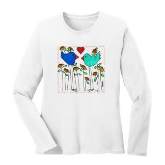 LS-Tee-white-love-birds-flowers