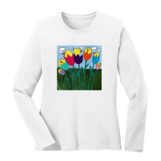 LS-Tee-white-tulip-birds