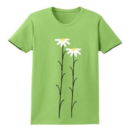 SS-Tee-lime-WhtDaisies