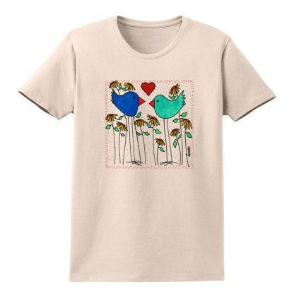 SS-Tee-natural-love-birds-flowers
