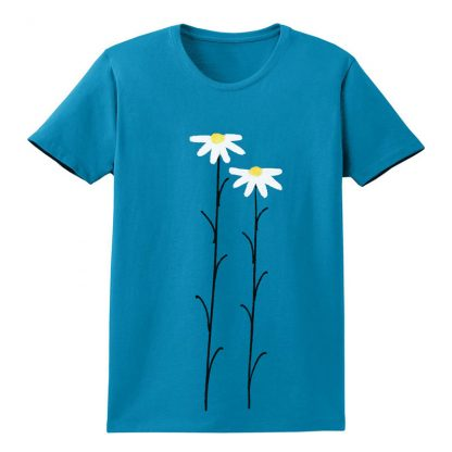 SS-Tee-turquoise-WhtDaisies
