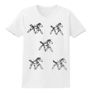 SS-Tee-white-running-horses