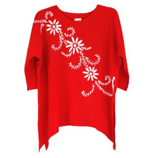 LCT-Tunic-red-mina-flowers