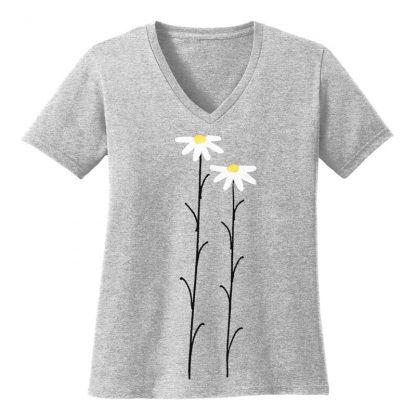 V-Neck-Tee-grey-daisiesW