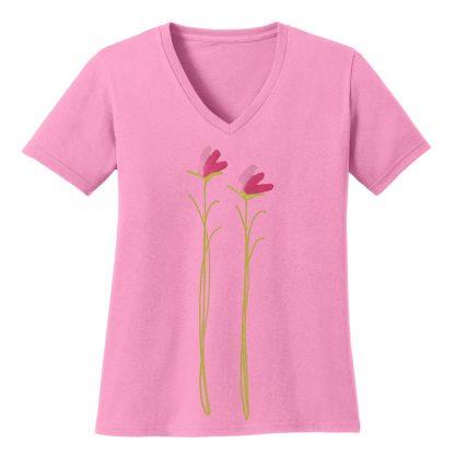 V-Neck-Tee-pink-pink-floral