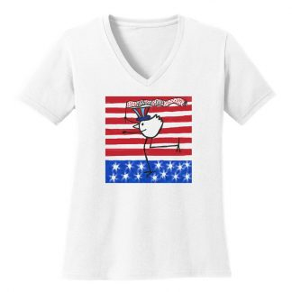 V-Neck-Tee-white-4july-banner-bird