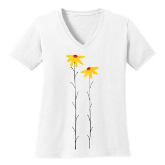 V-Neck-Tee-white-daisiesY