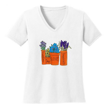 V-Neck-Tee-white-flowers-in-pots