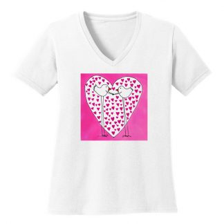 V-Neck-Tee-white-love-birds