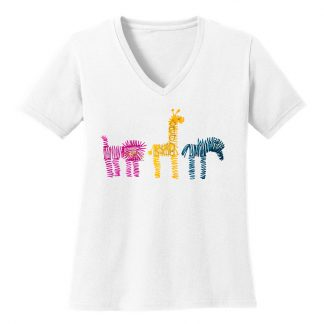 V-Neck-Tee-white-zoo-rowMulti