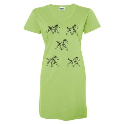 t-dress-lime-running-horses
